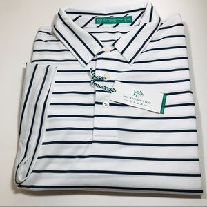 Southern Tide Club Men's S/S Polo.White.MSRP$88.50